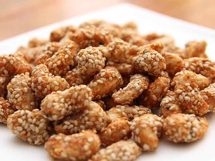 Quick Snack Recipe - Cashew Nut With Sesame Seed